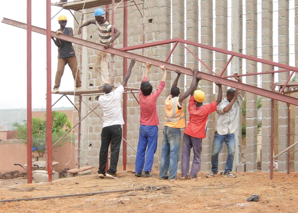 Jigiya So Centro di Riabilitazione psicomotoria: cantiere - 2013 - Katì – Repubblica del Mali